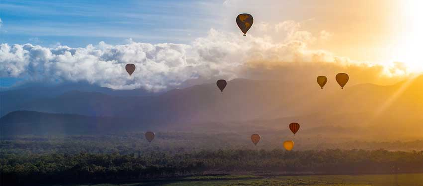 Up, Up and Away over Cairns!